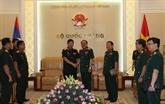 Intensifier la coopération entre les Départements généraux de logistiques Vietnam - Laos