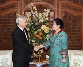 Vietnam-Indonésie : le chef du PCV et la présidente du PDI-P plaident pour des liens accrus