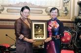 Hô Chi Minh-Ville prête à partager son expérience avec le Conseil populaire de Vientiane
