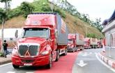 Vietnam - Chine : inauguration dune route de transport de marchandises