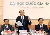 Le PM presse daccélérer le projet dUniversité nationale du Vietnam