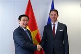 Le vice-Premier ministre Vuong Dinh Huê rencontre des dirigeants européens