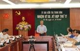 La Commission centrale du contrôle du Parti tient sa 17e réunion