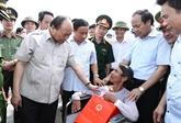Le gouvernement vient en aide aux sinistrés du typhon Doksuri