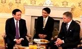 Le vice-Premier ministre Vuong Dinh Huê en visite de travail en Slovaquie