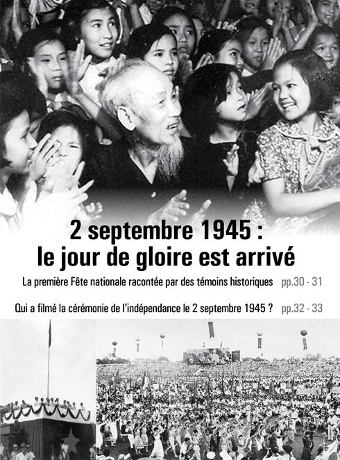 Qui a filmé la cérémonie  de l'indépendance  le 2 septembre 1945 ?