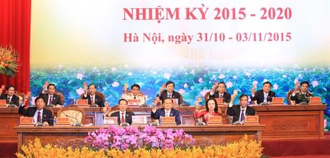 Ouverture du XVIe Congrès de l'organisation du Parti pour Hanoi