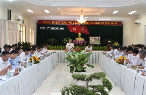 Le secrétaire général du PCV exhorte Khanh Hoà à mieux exploiter ses potentiels