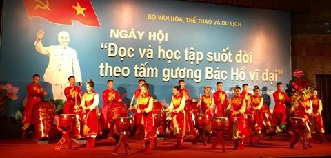 La cérémonie d'inauguration de la fête «Lire et suivre l'exemple du Président Hô Chi Minh», le 19 mai à Hanoï.