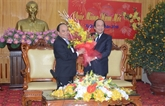 Le vice-Premier ministre Nguyên Xuân Phuc formule ses vœux du Têt à Hà Nam