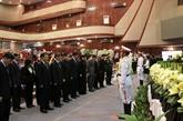 Des dirigeants vietnamiens aux funérailles de l'ancien président de l'AN lao Saman Viyaket