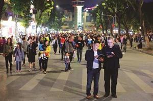 Lespace piéton de Hanoï ouvert jusquen juin prochain