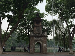 Les ruines de lancienne tour Hoà Phong à Hanoï