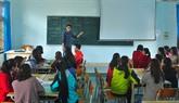 Un Viêt kiêu enseignant d'anglais bénévole à Quang Tri
