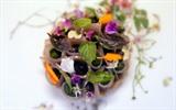 Une tarte aux aubergines du restaurant Pineapple and Pearls à Washington (États-Unis). Photo : AFP/VNA/CVN