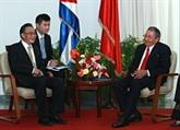 Engagement à renforcer la coopération Chine-Cuba