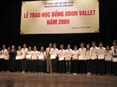 La bourse Odon Vallet pour soutenir les rêves des élèves vietnamiens