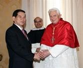 Le président vietnamien rencontre le Pape Benoît XVI