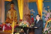 Lancement des travaux de sculpture d'une statue du Bouddha
