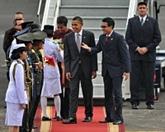 Courte visite du président américain en Indonésie