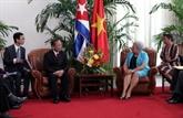 Le vice-Premier ministre Truong Vinh Trong à Cuba