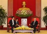 Des dirigeants vietnamiens reçoivent le ministre japonais des AE