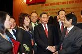 La joie de la réunion de Viêt kiêu des cinq coins du monde