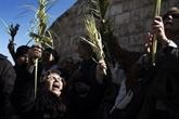 Jérusalem : chrétiens palestiniens et pèlerins ensemble pour les Rameaux