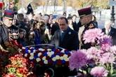 France : début des cérémonies du 11 novembre sur les Champs-Élysées