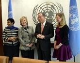 JO-2014: Ban Ki-moon s'enthousiasme pour le saut à skis féminin