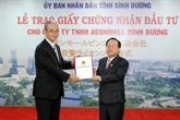 Binh Duong remet la licence d'investissement à la Sarl Aeonmall