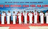 Mise en chantier d'une autoroute entre Ha Long et Hai Phong
