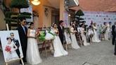 Vingt couples handicapés et de travailleurs défavorisés en mariage communautaire