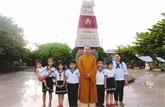Le père spirituel des pensionnaires de l'île de Truong Sa Lon