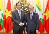 Le président du parlement birman achève sa visite officielle au Vietnam