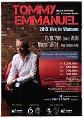 Concert au Vietnam du guitariste acoustique australien Tommy Emmanuel