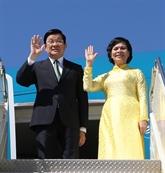 Truong Tân Sang part pour le 23e Sommet de l'APEC aux Philippines