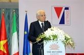 Le président italien termine sa visite d'État au Vietnam