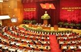 Première journée du 13e plénum du Comité central du PCV