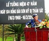 Commémoration des 47 ans du massacre de Son My à Quang Ngai