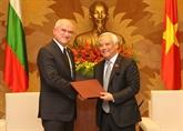 Le vice-président de l'AN Uông Chu Luu reçoit des délégations bulgare et palestinienne