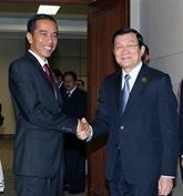 Entretiens du chef de l'État au Sommet afro-asiatique