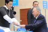 Kazakhstan : Nazarbaïev réélu avec 97,5% des voix, taux de participation record