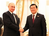 Entretien Truong Tân Sang - Vladimir Poutine