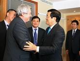 Activités du chef de l'État vietnamien en République tchèque