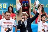 A New York, fin de règne pour l'avaleur de hot-dogs Joey Chestnut