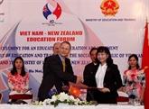 Vietnam et Nouvelle-Zélande signent un accord de coopération dans l'éducation