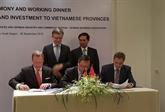 Connexion entre localités vietnamiennes et entreprises allemandes