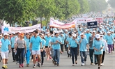Marche caritative Lawrence S.Ting à Hô Chi Minh-Ville