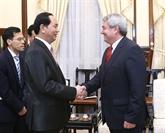 Le président Trân Dai Quang reçoit le président du Parti communiste tchèque-Moravie